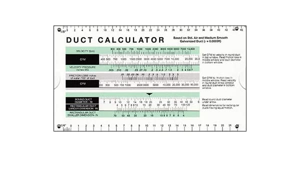 Amazon com: Duct Calculator by Carrier: Industrial & Scientific
