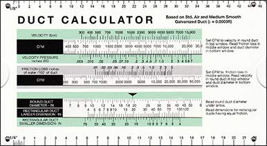 Duct Calculator by Carrier (Duct Carrier)