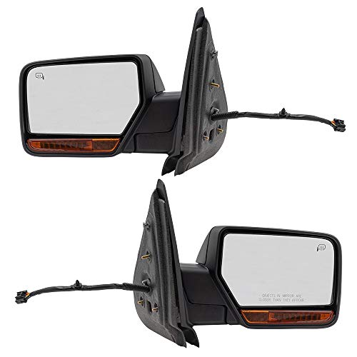 (BROCK Pair Power Folding Side Mirrors Replacement for 2007-2008 Ford Expedition Driver and Passenger Set Heated Signal Memory Puddle Lamp 8L1Z17683DA 8L1Z17682GA)