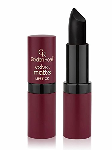 Golden Rose Velvet Matte Lipstick, 33 Midnight Black