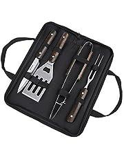 Utensilios barbacoa, Blusmart Juego de utensilios para barbacoa de acero inoxidable kit 5 piezas