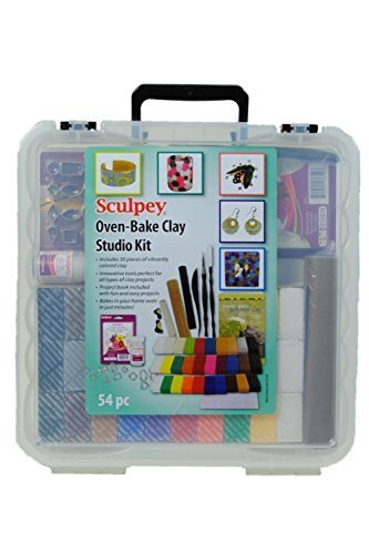 (Sculpey Oven bake clay studio kit, 54pc by Sculpey )
