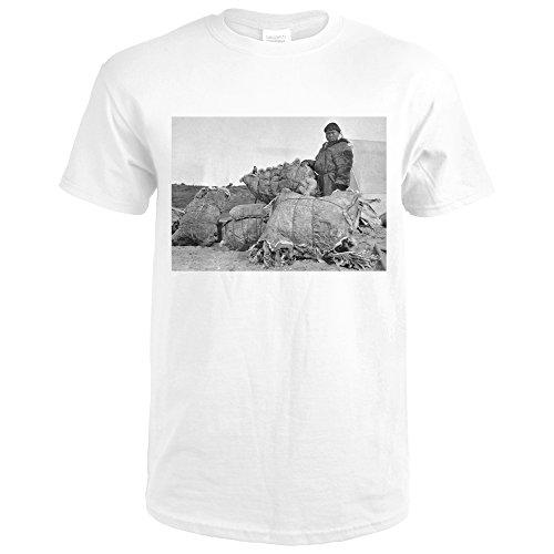 Eskimo Fur Parka - Eskimo Fur Dealer in Nome, Alaska Photograph (Premium White T-Shirt X-Large)