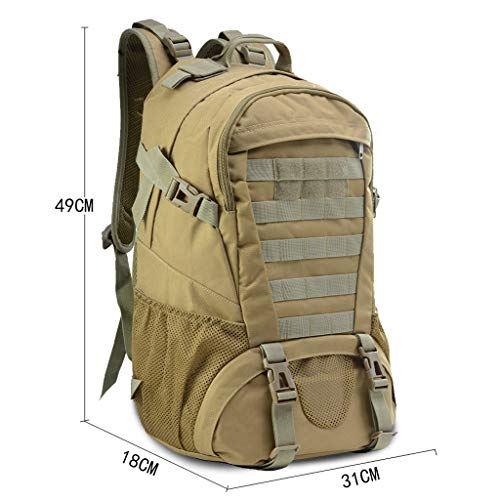Military Tactical Backpack - 45L Outdoor Waterproof Backpack, Adjustable & Removable Chest Belt and Hip Belt Trekking Backpack, for Camping, Hiking, Trekking (♥ C) by Hisoul (Image #5)