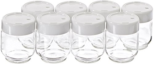 Euro Cuisine Set of 8 Glass Jars for Yogurt Maker GY2640