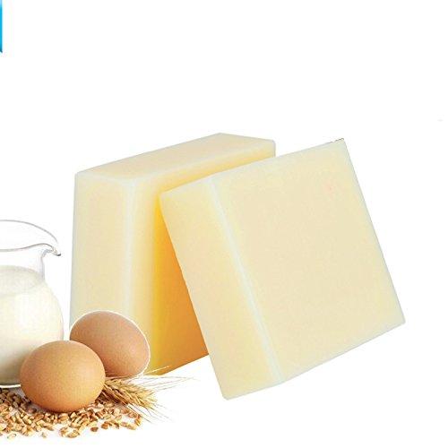 Nynoi goat milk soap base bulk organic melt pour Handmade Goat Milk Honey Soap Allergy Repair Shrink Pores anti Acne Oil Soap Cold Process Bar Soap for Sensitive Skin 100 g 1 bar