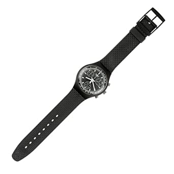Swatch - SCB100 Black Friday - Chronograph - montre Homme - Bracelet en Plastique