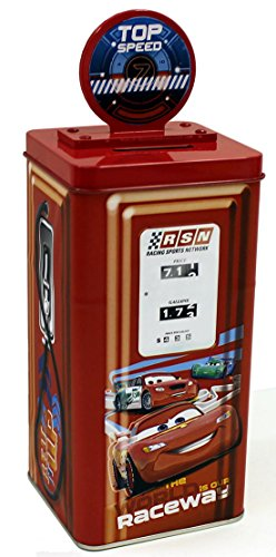 Gas Pump Bank (Disney Pixar Cars 2 Lightning McQueen Tin Gas Pump Bank)
