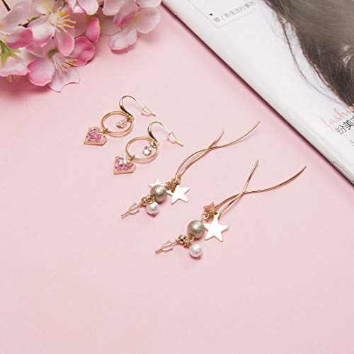 1000Pcs Silicone Earring Backs Soft Clear Ear Safety Back Clutch Stopper Replacement for Fish Hook Earrings