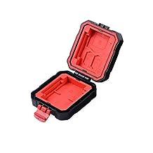 LXH/LYNCA Memory Card Case Holder Box SD/CF/MSD/XQD/TF/SDHC SDXC Micro SD Card Storage Box Camera Cartridge Waterproof and Anti-dust Box For 3 SD & 2 CF & 2 TF & 2 XQD (For 9 Slots)