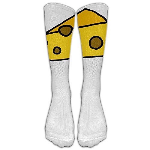 Cheese Unisex Knee High Socks Sports Socks With Fancy Design Multi Colorful Patterned