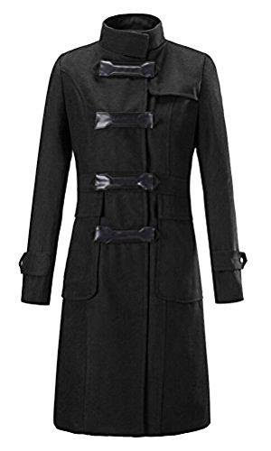 5 Classique Longue 2 En Manteau Élégante De veste Bouton trenchcoat Couleur Mélange Style Chaud Brinny Laine Avec Femme parka Vintage Moulante qAwRTxOXY