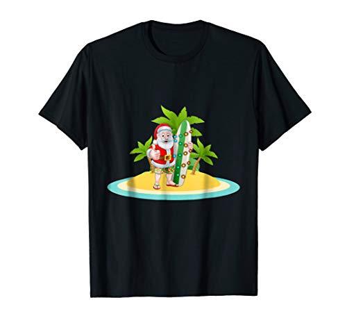 Santa Claus Surfing T-shirt