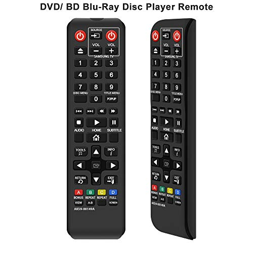 Gvirtue AK59-00149A Remote Replacement for Samsung DVD BD Blu-Ray Disc Player Remote, Applicable BDF5100/ZA BD-ES5300 BD-FM51 BD-FM57C BD-H5100 BD-H5900 BD-HM51 BD-HM59 BD-J5100 BD-J5700 BD-J5900
