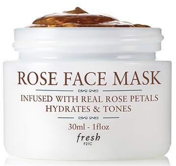 Fresh Rose Face Mask with Real Rose Petals to Hydrate and Tone - 1 ounce 30 milliliters - Boxed