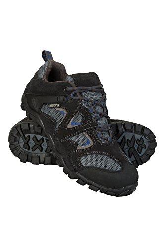 Mountain Warehouse Curlews Embroma Los Zapatos Impermeables - Alto del Ante y del Acoplamiento, Zapatos Que Caminan del Verano de Los Niños de Breathability Gris