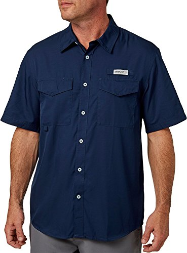 Field & Stream Men's Short Sleeve Latitude Fishing Shirt (University Navy, Large)