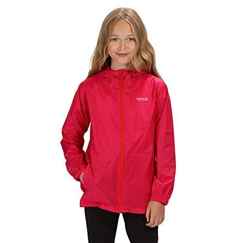 (Regatta Great Outdoors Kids Pack It Jacket III Waterproof Packaway Black (7-8 Years) (Cabaret) )