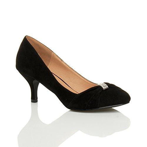 Ajvani - Zapatos de vestir para mujer negro