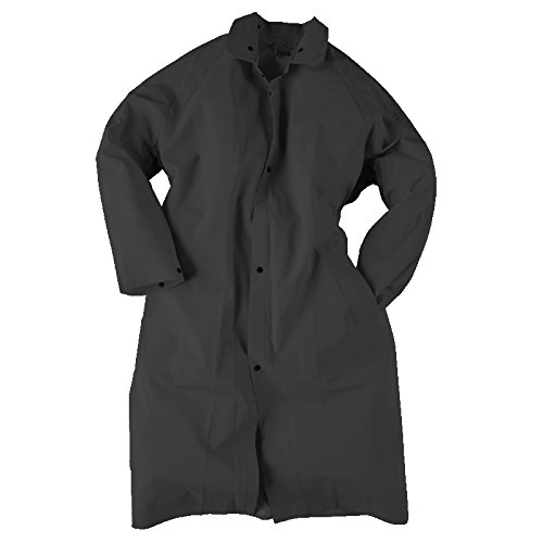 Neese Industries Style #1790C Basic Rain Wear Riding Slicker Pommel Style Coat with Badge Tab, PVC/Polyester, 2XL, Black