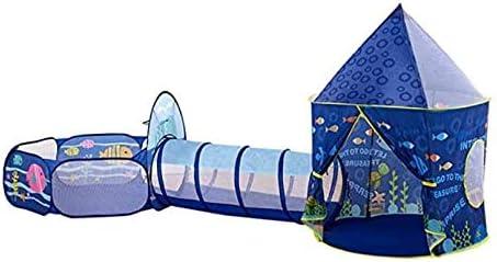 Tienda de juegos Infantil, Pop Up 3en1 Tienda con el túnel de juegos juguetes Infantil Piscina de bolas al aire libre Tienda de princesa Castle Con aro de baloncesto portátiles regalo de cumpleaños