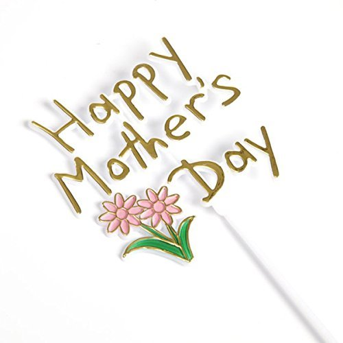 FloristryWarehouse Happy Mothers Day Plastic Picks 12 inches overall x 24