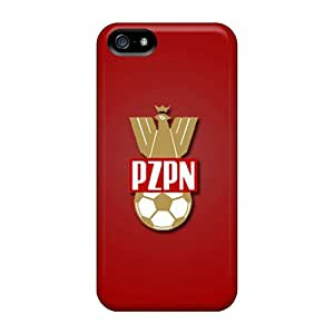 Snap-on Poland Football Logo Case Cover Skin Compatible With Iphone 5/5s