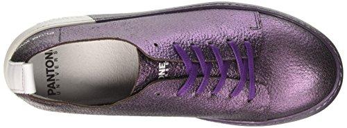 Pantone NYC, Sneaker a Collo Basso Unisex-Adulto Viola (Plum Wine)