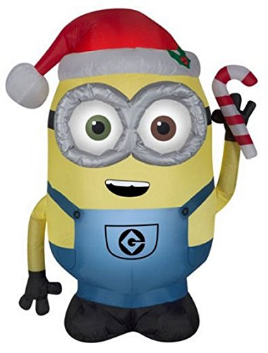Bundle Bob and Kevin Minion Christmas Holiday Yard Inflatables by Bundle
