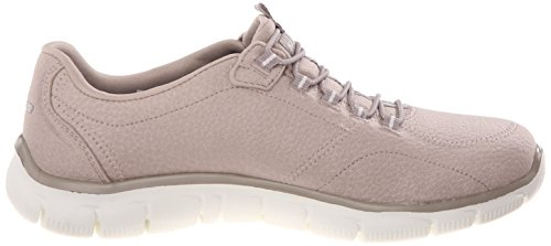 Skechers Damen Sport Empire - Rock um Relaxed Fit Fashion Sneaker Taupe / Weiß