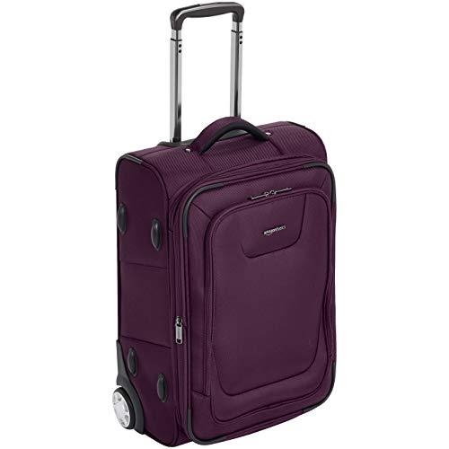 AmazonBasics Premium Upright Expandable Softside Suitcase wi