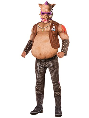 Rubie's Costume Co. Men's Teenage Mutant Ninja Turtles 2 Deluxe Bebop Costume, As Shown, Standard