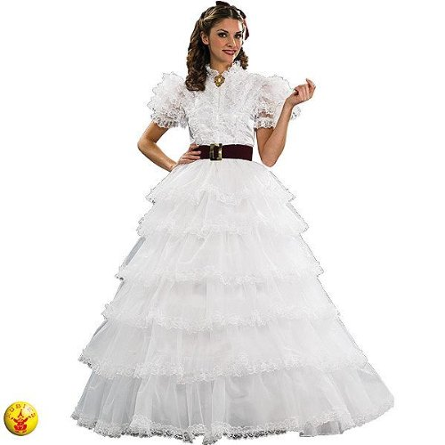 Gone With The Wind Grand Heritage Collection Deluxe Scarlet Southern Belle Costume, White, Medium -