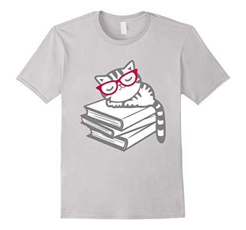 Cat-Book-Nerd-Reader-with-Glasses-Cute-Geek-Funny-T-Shirt