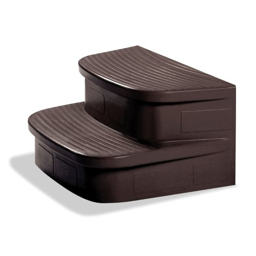 Lifesmart Matching Mahogony Steps For The Jewel, Hydromaster and Grandmaster Spas - Birch Wide Cabinet