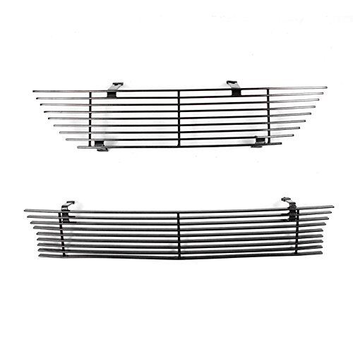 Mustang Body Saleen (ZMAUTOPARTS 1999-2004 Ford Mustang Saleen Front Upper + Bumper Billet Grille Insert Combo Black)