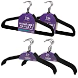 Joy Mangano (40 Count Huggable Hangers Felt Black Velvet Hangers Space Saving Coat Hanger Non Slip