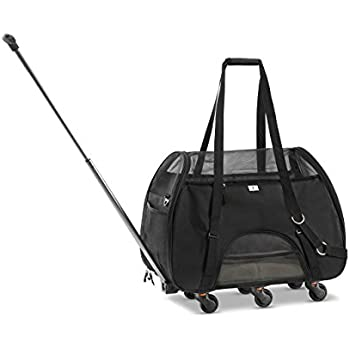 Amazon.com : WPS Pet Carrier with Wheels for Small Dogs