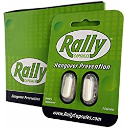 Rally for Hangovers (10 Travel Packets) | with Dihydromyricetin, Milk Thistle, and Electrolytes | 100% Money Back Guarentee