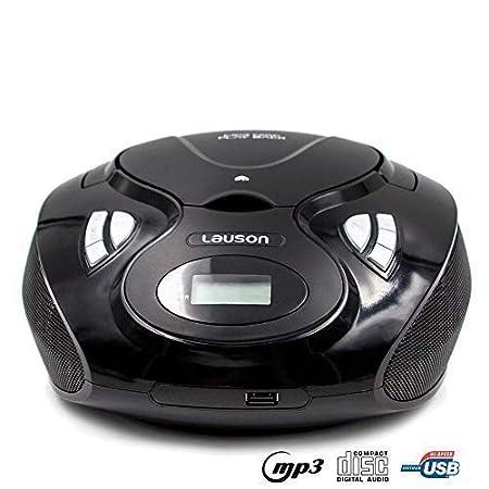 Lauson Radio y Reproductor de CD Portátil con Bluetooth y USB | Radio Am/FM | USB y Mp3 | CD Player con Salida para Auriculares 3.5mm | CP639 (Rojo): ...