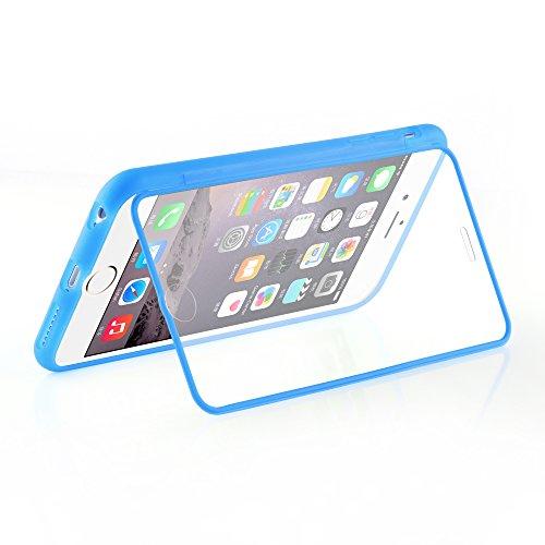 Cadorabo - Cubierta protectora para Apple iPhone 6 - (4.7) de silicona TPU Cuerpo Completo Full Body - Case Cover Funda Carcasa Protección en ROSA AZUL