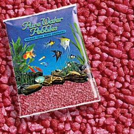 Pure Water Pebbles Nature's Ocean Aquarium Gravel Currant Red Aquarium Gravel, 5-LB