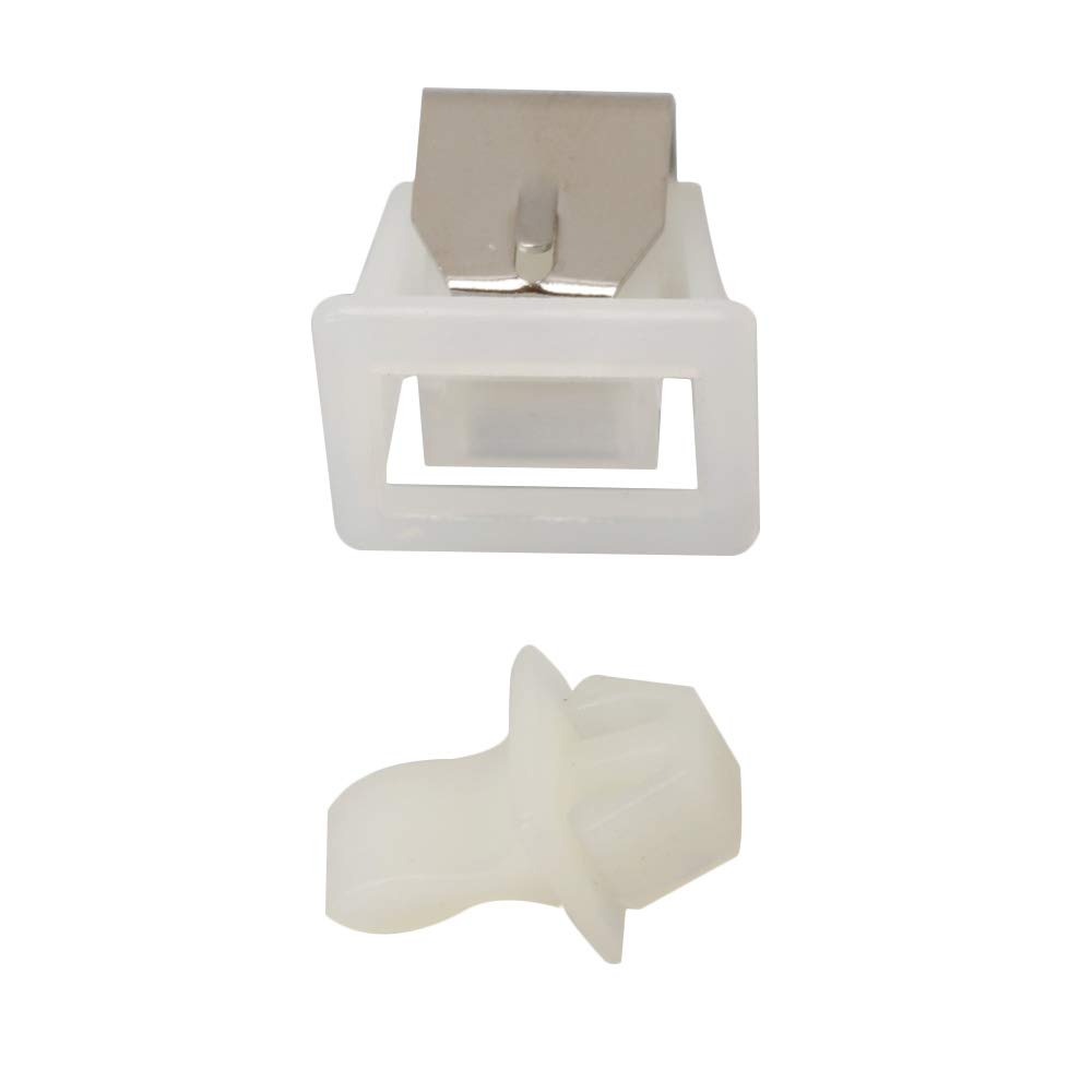 Yibuy 19mm Length White Dryer Door Latch Part Replacement 279570 for Whirlpool