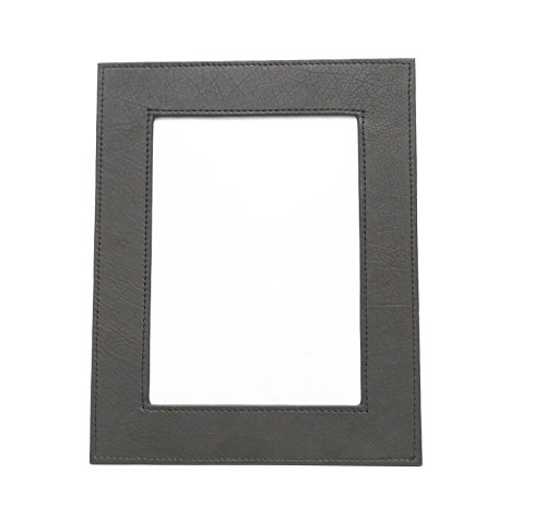 Ashlin Genuine Leather 5x7 Inches Single Photo Frame Portrait, Black Cowhide Picture Frame