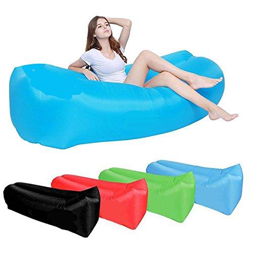 KANGRUIアウトドアポータブルインフレータブルラウンジAir Chair Air Sofa Sleepingソファのキャンプピクニック、プール、ビーチ砂& Festival B07C9DNCFB  パープル
