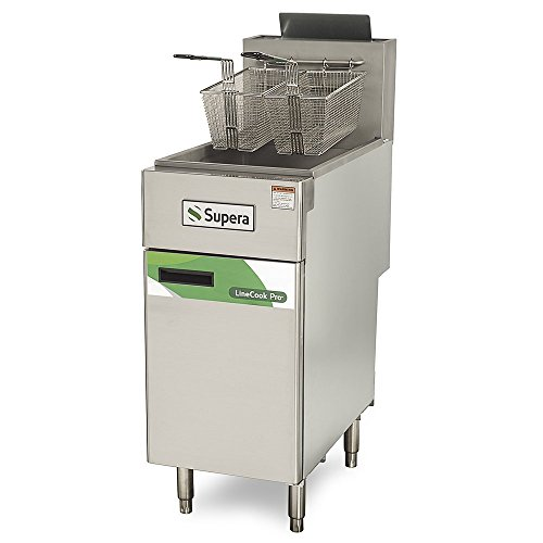 40 Lb Gas Fryer (Supera LCF3T-NG-1 Line Cook Pro Natural Gas Fryer, 40)