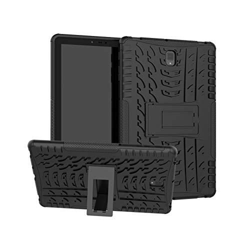 Galaxy Tab S4 10.5 Inch T830 Cover Hybrid DWaybox Rugged Heavy Duty Armor Hard Back Cover Case Kickstand Samsung Galaxy Tab S4 SM-T830/T835 10.5 Inch (Black)