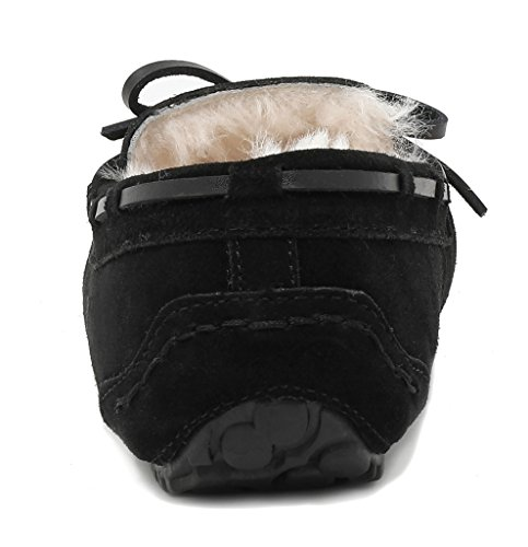 02 DREAM Slippers Black Moccasins Women's Winter PAIRS Auzy qarH08q