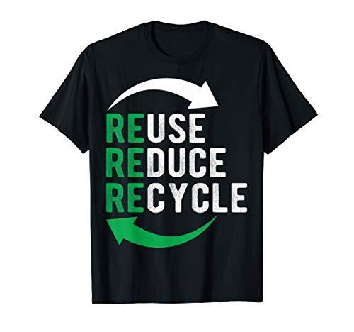 I Recycle T-shirt Reuse Green Logo Sign Recycling T-shirt
