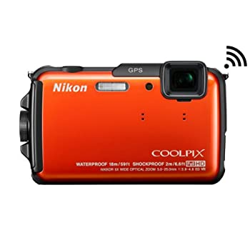 Image of Cameras Nikon COOLPIX AW110 Wi-Fi and Waterproof Digital Camera with GPS (Orange) (OLD MODEL)